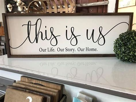 ***shipping*** most items from our shop. 12x36 | This is us our life. Our story. Our home | Framed sign | wall hanging | home decor ...