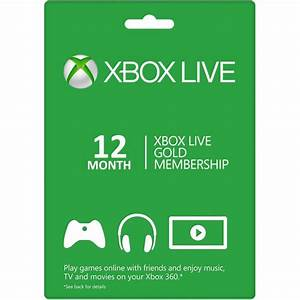 Xbox Live Gold 12 Months Membership Card Xbox 360 And Xbox One