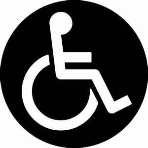 Ruedas Discapacidad silla signo circular Descargar Iconos gratis