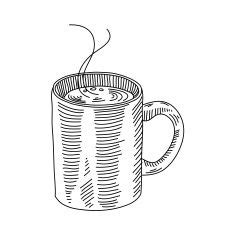 There are 7476 coffee mug drawing for sale on etsy, and they cost hkd 155.76 on average. Coffee mug drawing vector art illustration | Coffee illustration, Mug drawing, Coffee mug drawing
