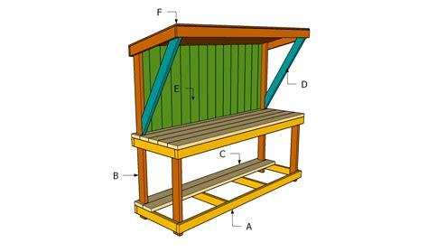 187 workbench plan build a garden potting benchfreewoodplans