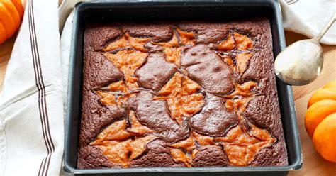 recette brownie marbre au potiron en pas  pas