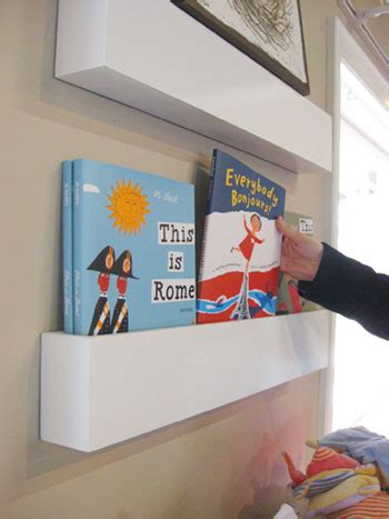 Bookcases For Nursery by How To Make Wall Shelves For Books In The Nursery