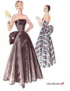 wedding dress patterns to sew 50s evening dress pattern 50s wedding gown by pinkblackbird
