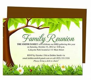 Family Tree Reunion Party Invitations Templates ...