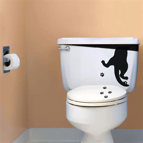 stickers pour wc sticker patte de chat ambiance