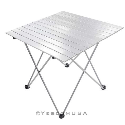 aluminum roll up table folding cing outdoor indoor