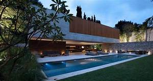 Exposed Concrete Mansions   Ipes House By Studiomk27