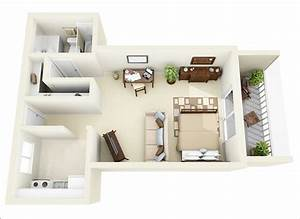 10 ideas for one bedroom apartment floor plans amazing for One room apartment design plan