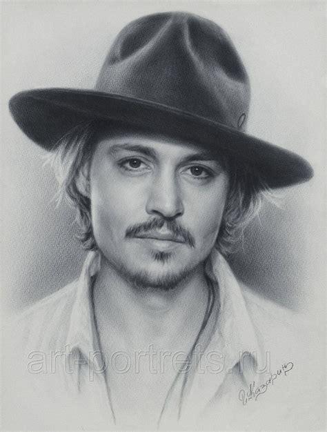 johnny depp portrait drawing fan art pencil drawings
