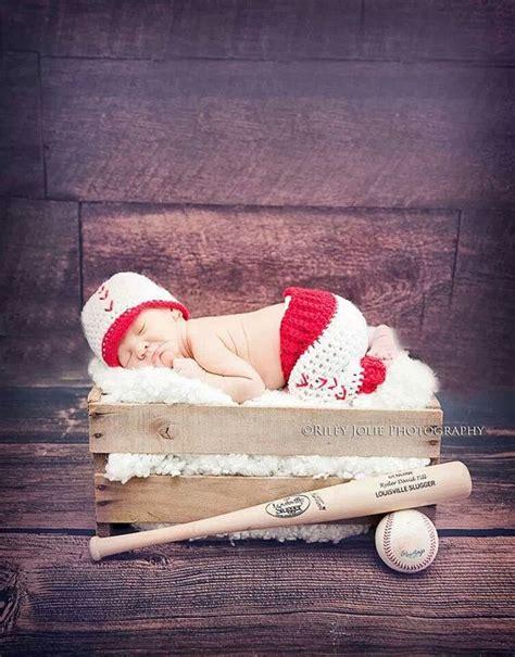 newborn baseball prop set baseball hat baby baseball set