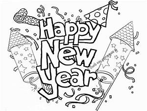 Free Printable Happy New Year 2019 Coloring Pages  U2013 New