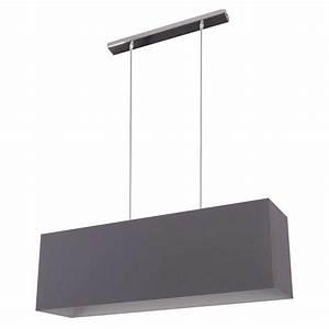 Abat Jour Suspension : suspension rectangulaire gris ardoise en vente sur lampe avenue ~ Teatrodelosmanantiales.com Idées de Décoration