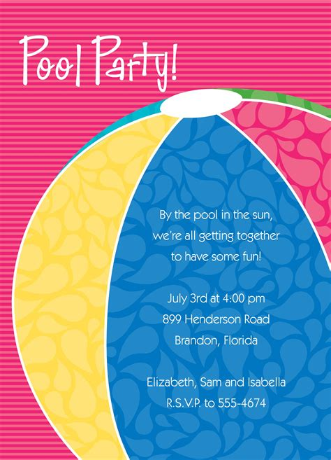 pool invitation template pool invitation wording invitations templates