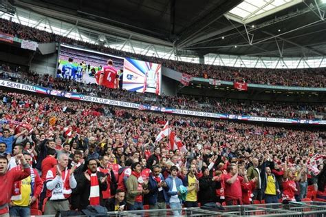 Arsenal fans before the match. Arsenal 1:1 Wigan Athletic ...