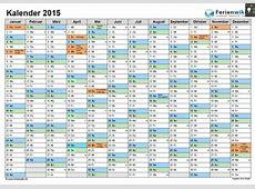 Jahreskalender 2016 mit Feiertagen Ferienwiki