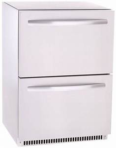 Kbs kuhlschrank mit 2 schubladen kuhlmobel online kaufen for Kühlschrank mit schubladen
