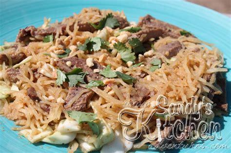 sandys kitchen medifast beef pad thai spaghetti squash s kitchen