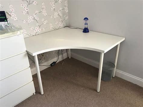 Ikea Desk/corner Table Adils/linnmon White