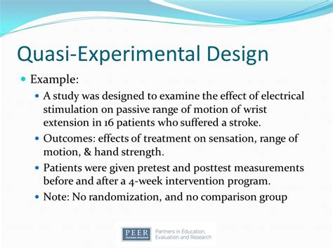 quasi experimental design introduction to research design ppt