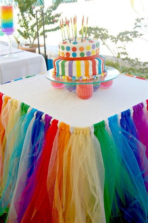 ideas homemade centerpiece for parties my home design diy rainbow party decorating ideas for kids hative