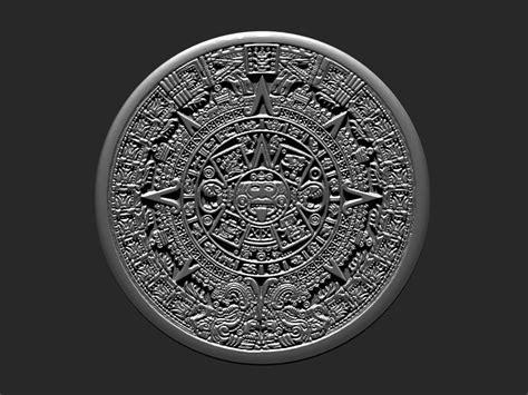 aztec calendar  model  printable obj stl ztl