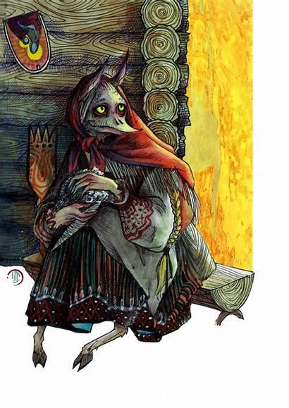 Kikimora Slavic Russian Folklore Mythology Spirit Creatures