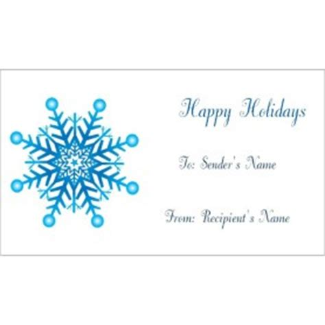 templates snowflake gift tags  business cards