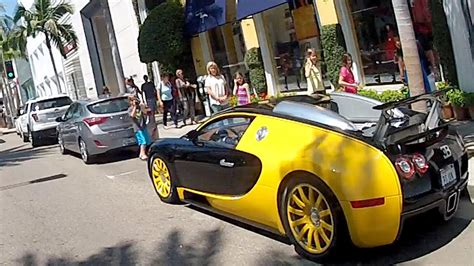 Bugatti, Hollywood, Sunset, Lane Splitting