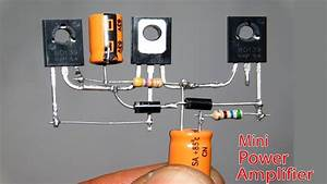 Mini Power Audio Amplifier Circuit Using 3 Transistor