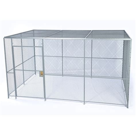 chrome wire shelving 4 wall wire mesh partitions security cages spaceguard