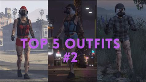 GTA ONLINE - TOP 5 CURRENT FEMALE OUTFITS #2 - YouTube