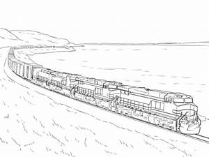Freight Train coloring page | Free Printable Coloring Pages