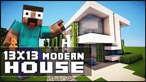 Minecraft House Tutorial: 13x13 Modern House - YouTube