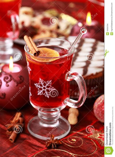 hot wine punch  winter  christmas stock images