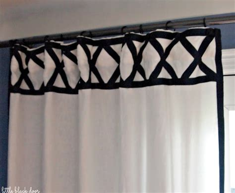 diy ribbon trim curtain panels tutorials home
