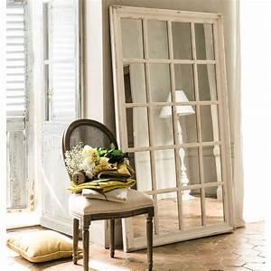Miroir Fenetre Maison Du Monde : miroir fen tre en bois blanc h 175 cm st martin maisons du monde ~ Teatrodelosmanantiales.com Idées de Décoration