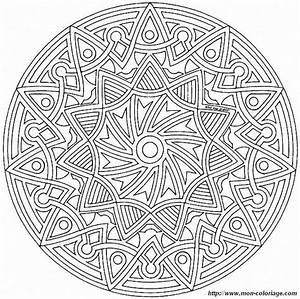 Coloriage De Mandala Dessin Mandalas Mandalas61a75 010