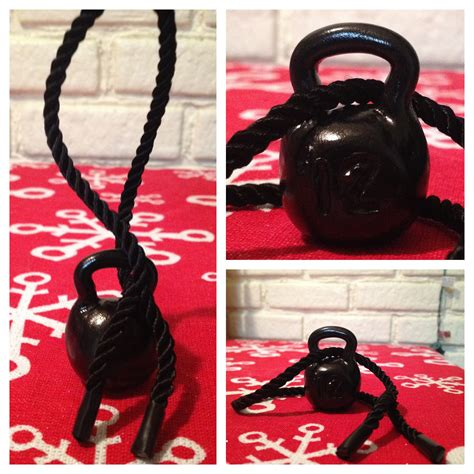 kettlebell diy ribbon ornament headphones rope