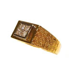 engagement rings yellow gold design square set 14ct yellow gold mens ring r1115