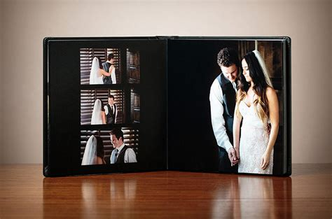 a wedding album crafted leather wood signature wedding albums