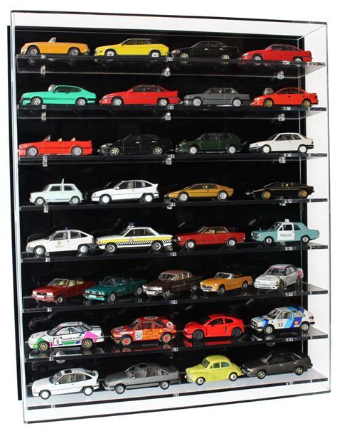 Acrylic Model Wall Display Case for 1:43 Model Cars with 8