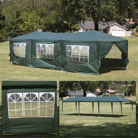 dark green party tent canopy gazebo