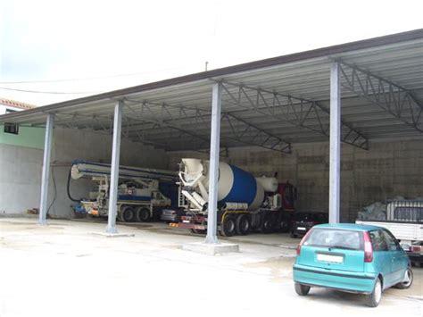 capannoni in ferro zincato bruno acciai coperture di parcheggi automezzi