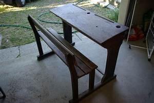 Table En Bois Avec Banc : ancienne table ecole occasion clasf ~ Teatrodelosmanantiales.com Idées de Décoration