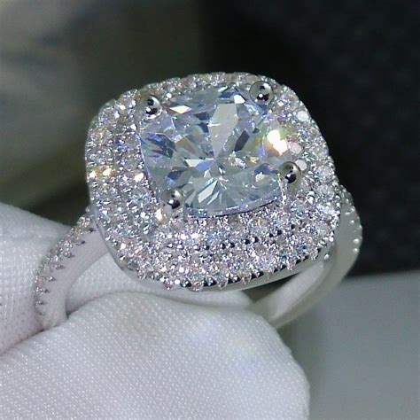 fashion ring  style cushion cut ct  zircon