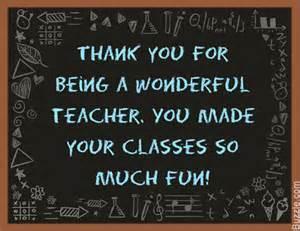 Thank You Teacher Quotes