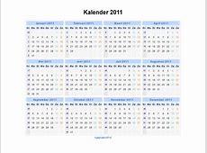 Kalender 2011 Jaarkalender en Maandkalender 2011 met