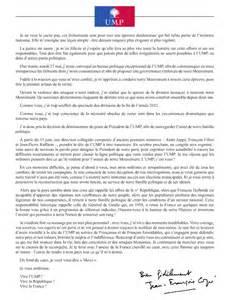 si e de l ump adresse voici l 39 intégralité de la lettre que jean françois copé