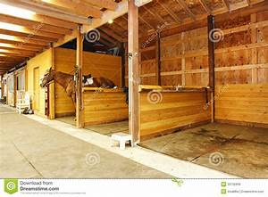 Interior Of Shed With Horse Stables. Royalty Free Stock ...